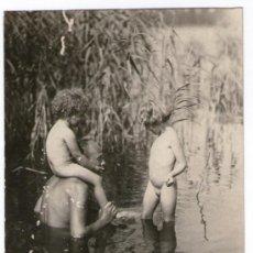 Fotografía antigua: NATURISMO - NUDISMO ALEMÁN, DESNUDO FAMILIAR. FOTO: MAX MÜLLER, 1920'S.. Lote 37543593