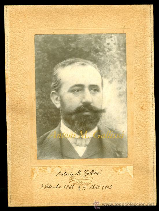 MODERNISME - ANTONI M. GALLISSÁ - 1861-1903 (Fotografía Antigua - Gelatinobromuro)