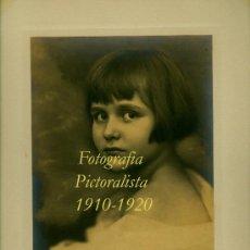 Fotografia antica: RETRATO - FOTOGRAFIA PICTORALISTA - 1910-1920 . Lote 38729584