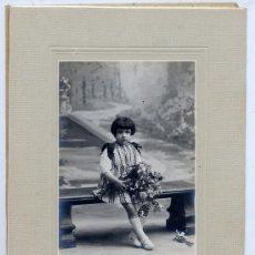 Fotografía antigua: FOTO ALMACENES EL SIGLO RETRATO NIÑA TAMAÑO IMPERIAL . Lote 38749273