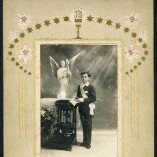 Fotografía antigua: DAGUERRE. BARCELONA. NIÑO PRIMERA COMUNIÓN. C. 1920. Lote 39130000