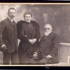 Fotografía antigua: RETRATO FAMILIAR. AUDOUARD. BARCELONA. Lote 39199158