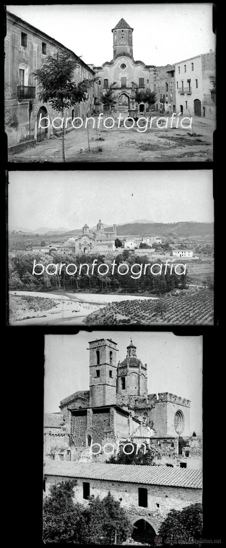 SANTES CREUS, TARRAGONA, JULIO 1908. LOTE DE 27 CRISTALES NEGATIVOS 9X12 CM. (Fotografía Antigua - Gelatinobromuro)