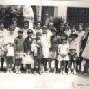 Fotografía antigua: FOTOGRAFIA TAMAÑO POSTAL GRUPO PERSONAS EN PARQUE FOTO DE LA TORRE CRISTO DE LA EPIDEMIA MALAGA.. Lote 39933488