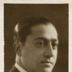 Fotografía antigua: MAGNÍFICO RETRATO DE JOVEN. MASANA. FIRMA AUTÓGRAFA. BCN. C. 1925. Lote 40023247