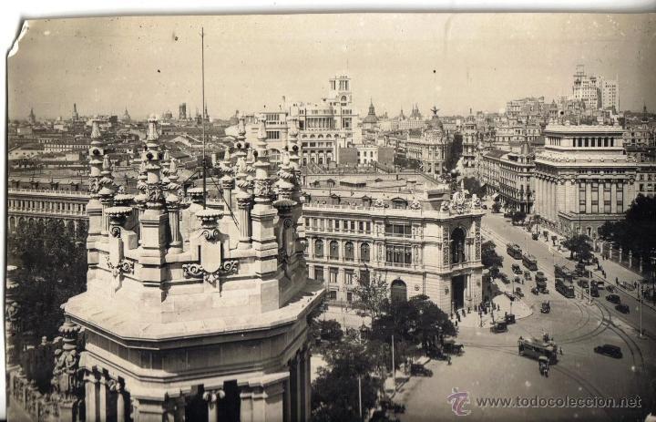 FOTO ORIGINAL DE MADRID, SACADA POR LOS FOTOGRAFOS DE L.ROISIN PARA MODELO POSTALES (Fotografía Antigua - Gelatinobromuro)