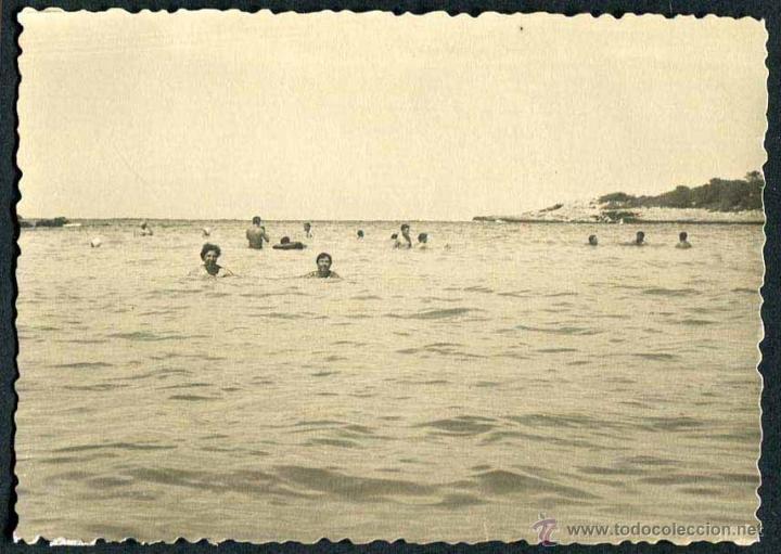 IBIZA. PLAYA. NIÑOS. C. 1955 (Fotografía Antigua - Gelatinobromuro)