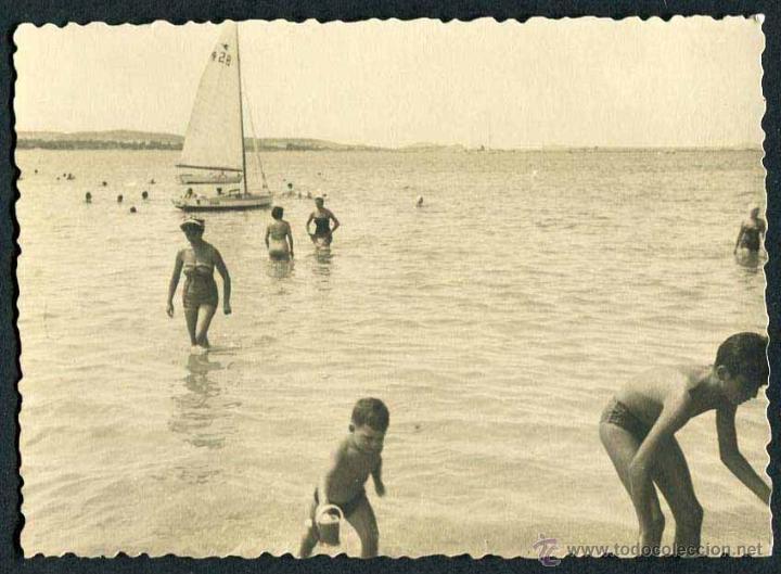 IBIZA. PLAYA. NIÑOS-1. C. 1955 (Fotografía Antigua - Gelatinobromuro)