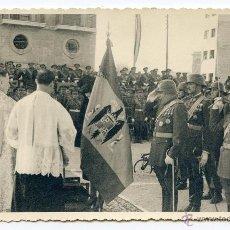 Fotografía antigua: ZARAGOZA. ACTO CASTRENSE, CON MISA DE CAMPAÑA. FOTÓGRAFO MARIN CHIVITE 13,6 X 8,6 CMS.. Lote 40861227