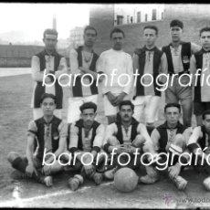 Fotografía antigua: EQUIPO DE FUTBOL POR IDENTIFICAR, ALREDEDORES DE BARCELONA, 1915'S APROX. CRISTAL NEGATIVO 10X15 CM.. Lote 40990310