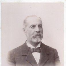 Fotografía antigua: SEÑOR DESCONOCIDO 1898. FOTOGRAFO P. CEMBRANO C/ SIERPES. SEVILLA. Lote 41082316