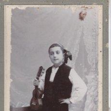 Fotografía antigua: NIÑO VESTIDO DE BATURRO. FOTOGRAFO GERMAN COLON. CASTELLON. Lote 41234645