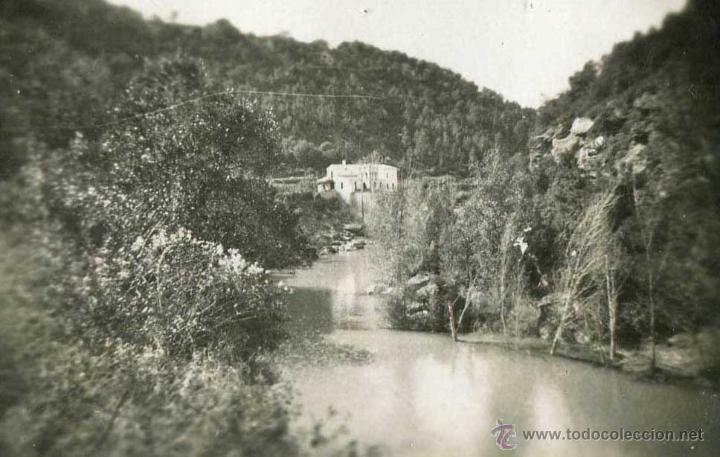 ESPONELLÀ. GIRONA. VISTA DEL RÍO CON MASIA.1943 (Fotografía Antigua - Gelatinobromuro)