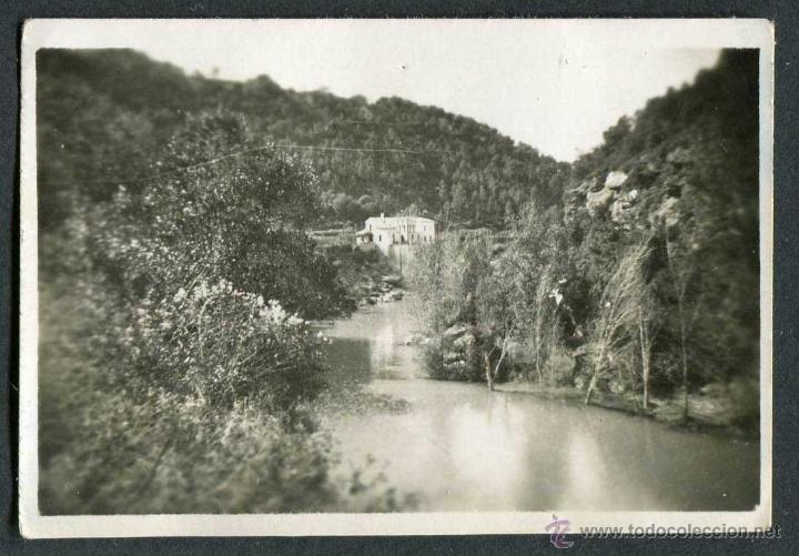 Fotografía antigua: Esponellà. Girona. Vista del río con masia.1943 - Foto 2 - 41294234