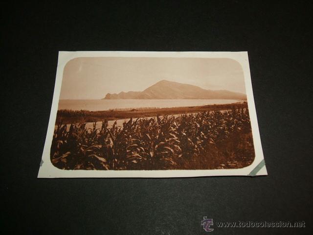 CALPE ALICANTE CARRETERA A ALICANTE ANTIGUA FOTOGRAFIA 1930 (Fotografía Antigua - Gelatinobromuro)