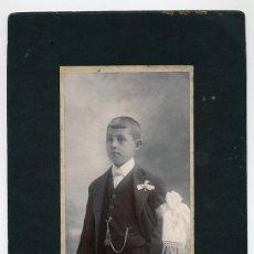 Fotografía antigua: EMILIO G. LOBATO SAN LUIS POTOSI MEXICO NIÑO PRIMERA COMUNION. Lote 41746891