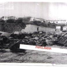 Fotografía antigua: FOTOGRAFIA DE PORTONOVO (CORUÑA) DIQUE DE ABRIGO , AÑOS 40, 50. Lote 42597813