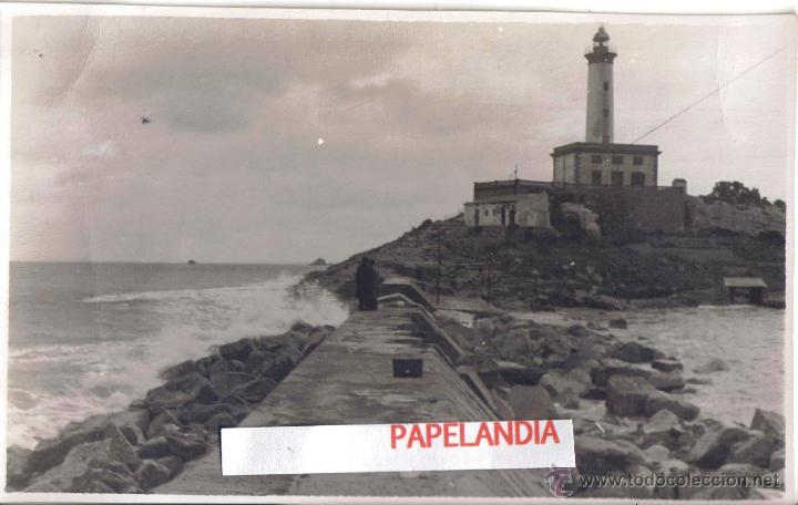 FOTOGRAFIA IBIZA (BALEARES) PUERTO DE IBIZA, DIQUE DE BOTAFOCH, TEMPORAL 15 MARZO 1953 (Fotografía Antigua - Gelatinobromuro)