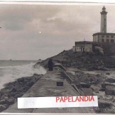 Fotografía antigua: FOTOGRAFIA IBIZA (BALEARES) PUERTO DE IBIZA, DIQUE DE BOTAFOCH, TEMPORAL 15 MARZO 1953. Lote 42618109