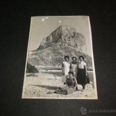 Fotografía antigua: CALPE ALICANTE PEÑON DE IFACH ANTIGUA FOTOGRAFIA AÑOS 40. Lote 42966476