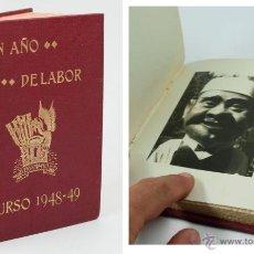 Fotografía antigua: UN AÑO DE LABOR. FOTOLIBRO CON 11 FOTOGRAFIAS ORIGINALES. GIGANTES Y CABEZUDOS, LLEIDA, 1949. Lote 43067493