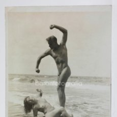 Fotografía antigua: GERHARD RIEBICKE (1878-1957) DESNUDO, 1924-1935, 10X14,5CM. TIRAJE DE ÉPOCA. NATURISMO ALEMÁN. Lote 43197803
