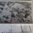 Fotografía antigua: DOS FOTOGRAFIAS DE IBIZA, TRABAJOS DE RECONSTRUCCION DEL MURO DEL PUERTO, 12 X 18 CM, AÑOS 50. Lote 43552056