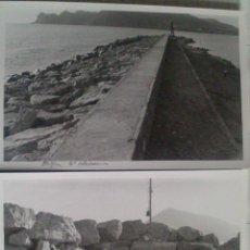 Alte Fotografie - DOS FOTOGRAFIAS ALTEA (ALICANTE), OBRAS REFORZADO DIQUE, DETALLE DEL MORRO, 12 X 18 CM, AÑO 53 - 43561950