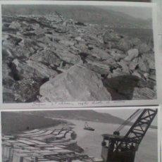 Alte Fotografie - DOS FOTOGRAFIAS ALTEA (ALICANTE), CONSTRUCCION DIQUE ALTEA, 12 X 18 CM, AÑO 53 - 43562041