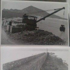 Alte Fotografie - DOS FOTOGRAFIAS ALTEA (ALICANTE), CONSTRUCCION DIQUE PUERTO ALTEA, 12 X 18 CM, AÑO 53 - 43562065