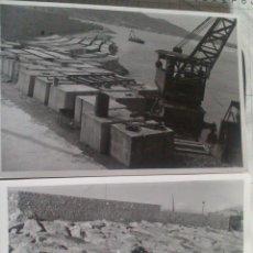 Alte Fotografie - DOS FOTOGRAFIAS ALTEA (ALICANTE), CONSTRUCCION DIQUE PUERTO ALTEA, 12 X 18 CM, AÑO 53 - 43562109