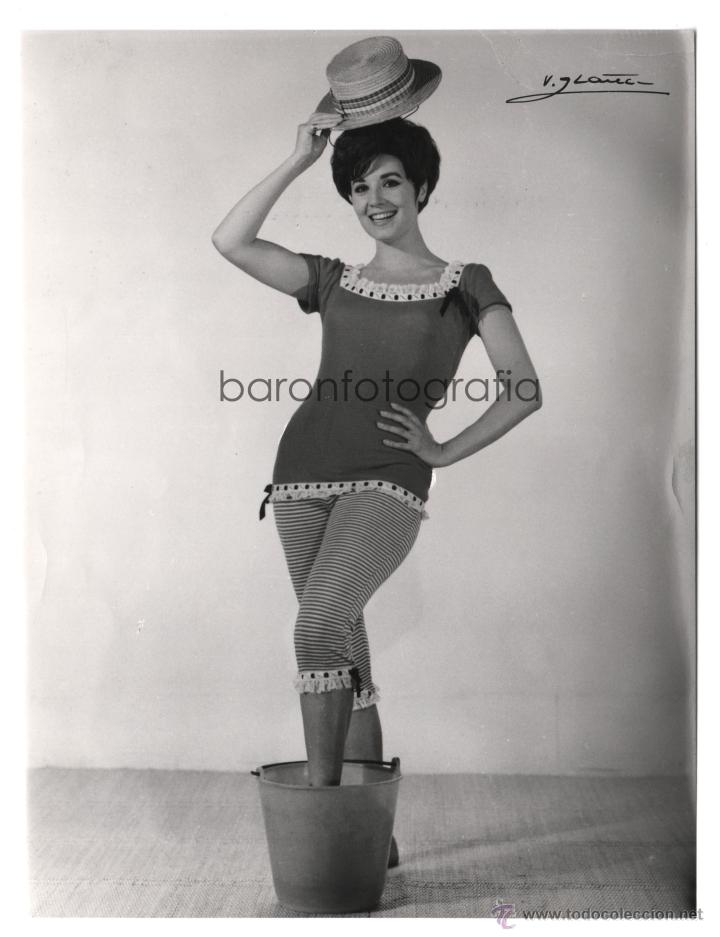 CONCHA VELASCO, 1960'S. FOTO: VICENTE IBÁÑEZ, MADRID. 17X22,5 CM. (Fotografía Antigua - Gelatinobromuro)