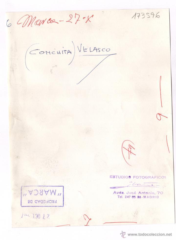 Fotografía antigua: Concha Velasco, 1960's. foto: Vicente Ibáñez, Madrid. 17x22,5 cm. - Foto 2 - 43656511