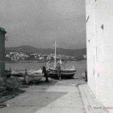 Fotografia antiga: PORT DE LA SELVA. GIRONA. PRECIOSA FOTO DEL MUELLE DE PESCADORES. C. 1960. Lote 43810451