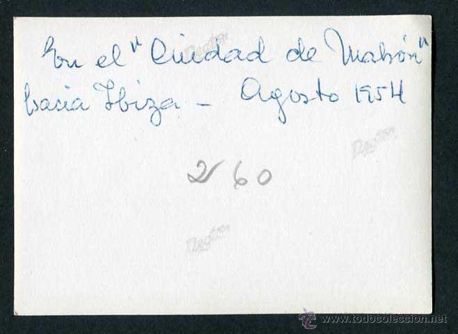 Fotografía antigua: Hacía Ibiza. Ciudad de Mahón. 8/1954 - Foto 2 - 43879973