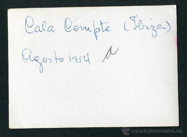 Fotografía antigua: Ibiza. Cala Compte. Cinco señoras. 8/1954 - Foto 2 - 43880024