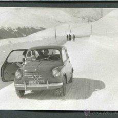 Fotografía antigua: ANDORRA. PORT D'ENVALIRA. ERA DEL SEISCIENTOS. NIEVE. 1961. Lote 44053195