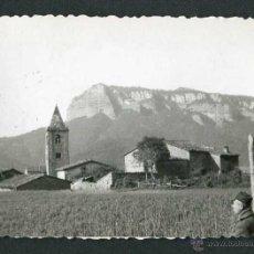 Fotografía antigua: SANT ROMÀ DE SAU. PUEBLO DESAPARECIDO. 18/4/1954. Lote 44084726