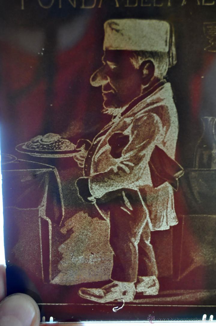 Fotografía antigua: MUY RARA FOTOGRAFÍA EN CRISTAL DE LA FONDA DEL FALCO. PRINCIPIOS SIGLO XX - Foto 4 - 44333585
