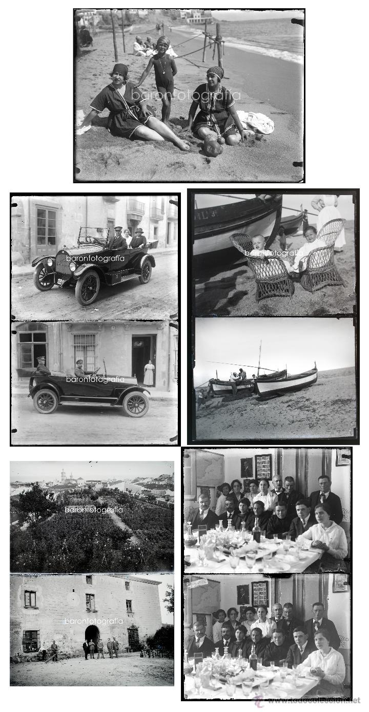 ARENYS DE MAR, 1915'S. ARCHIVO DE 450 CRISTALES NEGATIVOS DEL FOTÓGRAFO JOAQUIM CASTELLS (1874-1941) (Fotografía Antigua - Gelatinobromuro)