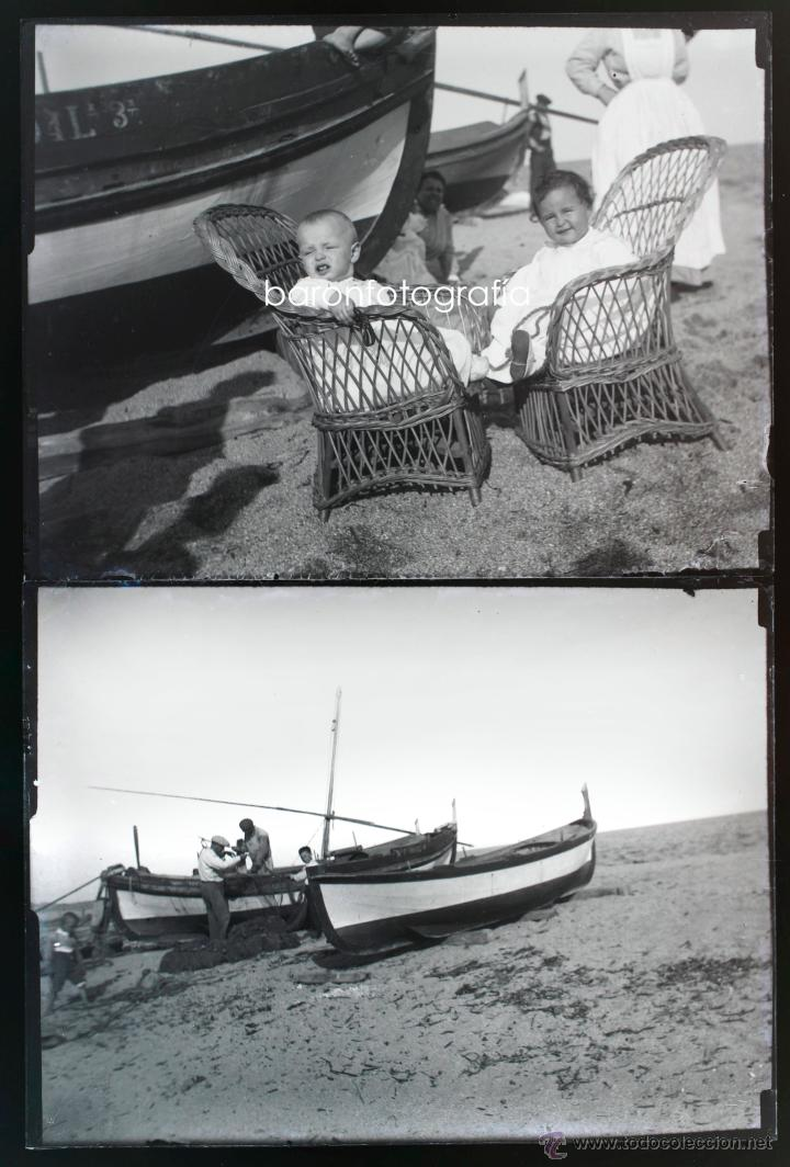 Fotografía antigua: Arenys de Mar, 1915s. Archivo de 450 cristales negativos del fotógrafo Joaquim Castells (1874-1941) - Foto 17 - 44337480