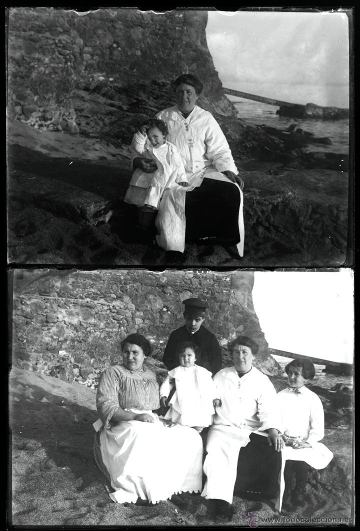 Fotografía antigua: Arenys de Mar, 1915s. Archivo de 450 cristales negativos del fotógrafo Joaquim Castells (1874-1941) - Foto 19 - 44337480