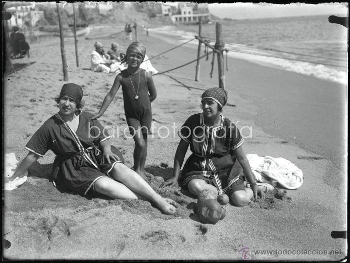 Fotografía antigua: Arenys de Mar, 1915s. Archivo de 450 cristales negativos del fotógrafo Joaquim Castells (1874-1941) - Foto 27 - 44337480