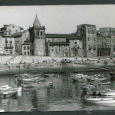Fotografía antigua: GIJÓN. ASTURIAS. PRECIOSA FOTO DEL PUERTO OLÍMPICO DE GIJÓN. PALACIO REVILLAGIGEDO. C. 1960. Lote 44761790