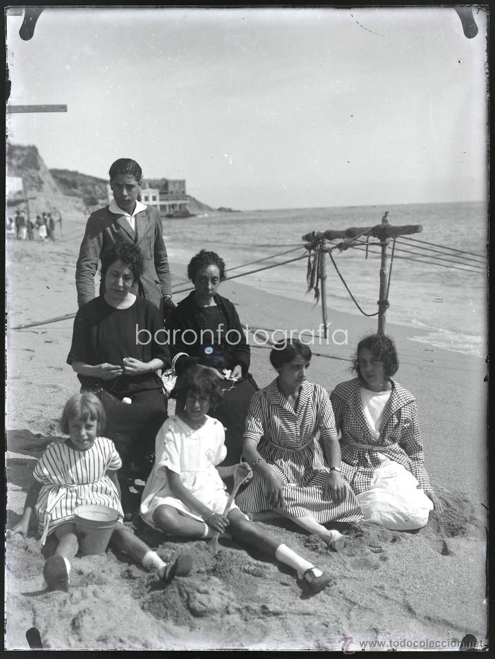 Fotografía antigua: Arenys de Mar, 1915s. Archivo de 450 cristales negativos del fotógrafo Joaquim Castells (1874-1941) - Foto 115 - 44337480