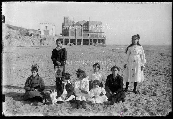 Fotografía antigua: Arenys de Mar, 1915s. Archivo de 450 cristales negativos del fotógrafo Joaquim Castells (1874-1941) - Foto 165 - 44337480