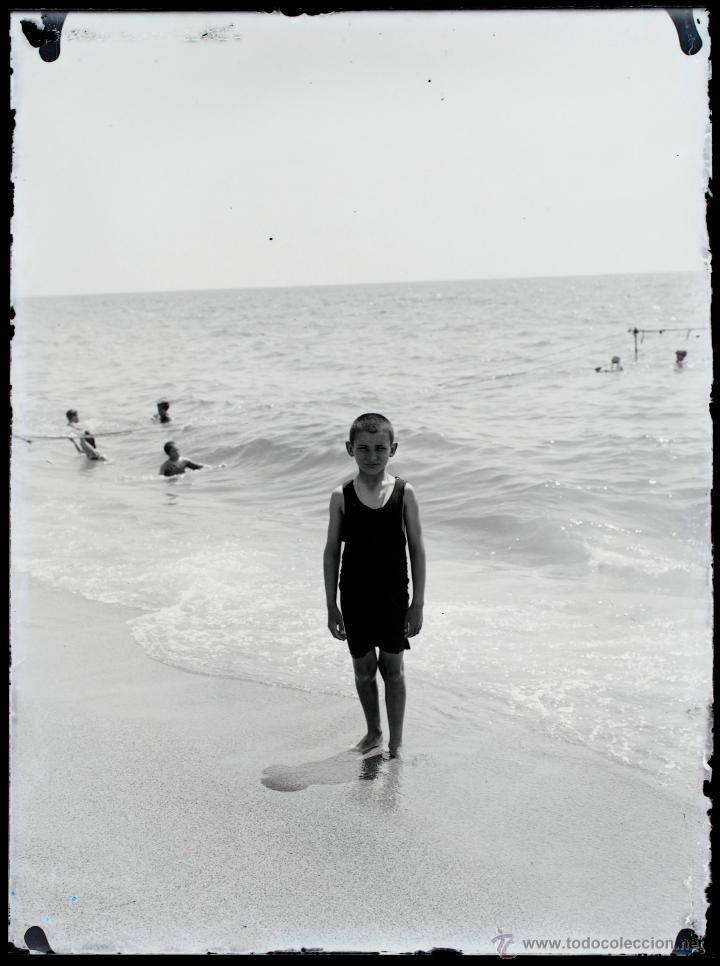 Fotografía antigua: Arenys de Mar, 1915s. Archivo de 450 cristales negativos del fotógrafo Joaquim Castells (1874-1941) - Foto 183 - 44337480