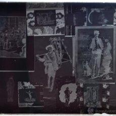 Fotografía antigua: FOTOGRAFÍA EN CRISTAL TEMÁTICA DE ESPACTÁCULOS O SIMILAR. PRINCIPIOS SIGLO XX. Lote 45578463
