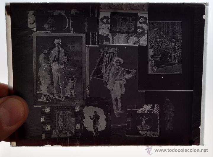 Fotografía antigua: FOTOGRAFÍA EN CRISTAL TEMÁTICA DE ESPACTÁCULOS O SIMILAR. PRINCIPIOS SIGLO XX - Foto 2 - 45578463
