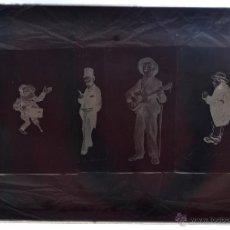 Fotografía antigua: FOTOGRAFÍA EN CRISTAL TEMÁTICA DE ESPACTÁCULOS O SIMILAR. PRINCIPIOS SIGLO XX. Lote 45578657